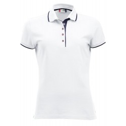 POLOSHIRT CLIQUE SEATTLE LADIES 028243 00 WIT