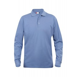 POLOSHIRT LANGE MOUW  CLIQUE CLASSIC LINCOLN 028245 57 LICHTBLAUW