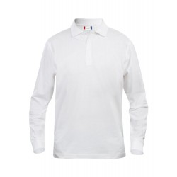 POLOSHIRT LANGE MOUW  CLIQUE CLASSIC LINCOLN 028245 00 WIT