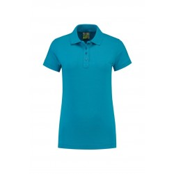 POLOSHIRT L&S POLO JERSEY FOR HER 3530 TURQUOISE