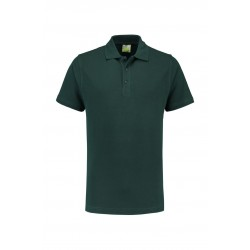 POLOSHIRT L&S BASIC SS FOR HIM 3540 FOREST GREEN