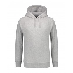 HOODED SWEATER L&S 3234 GREY HEATHER