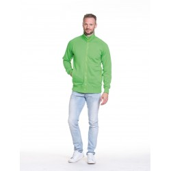 SWEATVEST L&S CARDIGAN 3236 LIME