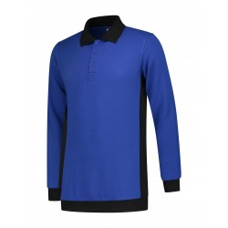POLOSWEATER L&S WORKWEAR 4700 ROYALBLUE BLACK