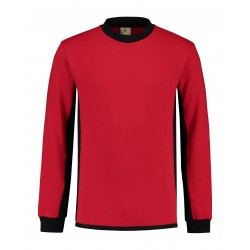 SWEATER L&S WORKWEAR 4750 RED BLACK
