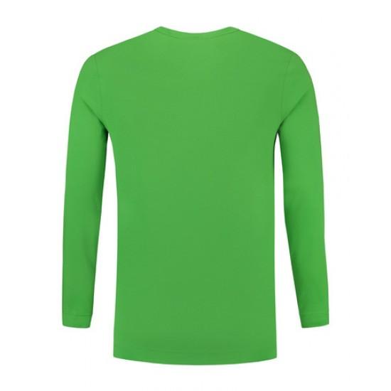 T-SHIRT L&S 1265 LONGSLEEVE CREWNECK COT-ELAST LS LIME T shirt